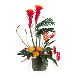 Silk Plants Direct - Silk Plants Direct Anthurium, Protea, Bromeliad and Fern (Pack of 1) - Pack of 1. Silk Plants Direct specializes in manufacturing, design and supply of the most life-like, premium quality artificial plants, trees, flowers, arrangements, topiaries and containers for home, office and commercial use. Our Anthurium, Protea, Bromeliad and Fern includes the following: