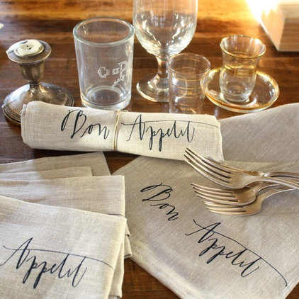 contemporary table linens by Etsy