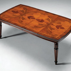 Solid Walnut Rustic Dining Table - FM-684 Table w/ 2 self storing butterfly lvs.