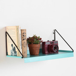 Modern Wall Shelf - Wall shelves save space and are very popular at the moment. Use them to collect books and little pots of plants or to exhibit your latest thrifted treasures.