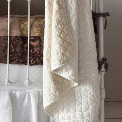Bella Notte Linens - Silk Velvet Quilted Baby Blanket - Silk Velvet Quilted Baby Blanket
