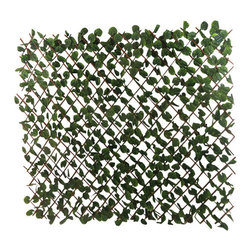 """Master Garden Products - Expandable Faux Ivy  Leaves Privacy Fence,  72""""W x 48""""H, Set of 2 - Our faux ivy privacy expandable trellis fences will create an instant privacy screen.  Just open and extend the trellis, can expand 6' long, 4' or 5' feet high. This faux fence is great for backyard events, or use them for privacy in your yard to hide unwanted views, and enhance the look of your property. It features realistic green fade-resistant polyester ivy leave."""