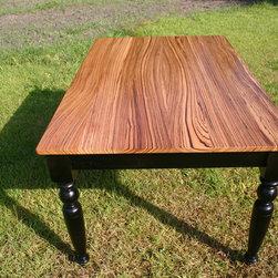 Zebra Wood Table - Custom Zebra Wood Table
