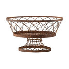 Aidan Gray - Vintage Oval Baskets-set of 2 - You'll add instant charm to a kitchen island, console or tabletop with this unique basket. Made of iron with a rust finish to evoke a vintage vibe, it's perfect for fruit or a flowerpot, or simply to prettify whatever everyday objects you toss in.
