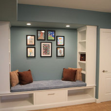 Transitional Basement by New Outlooks Construction