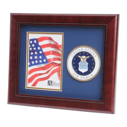 US Air Force Portrait Picture Frame - 10-Inch by 12-Inch Military Portrait Picture Frame