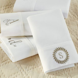 PB Classic 400-Thread-Count Extra Pillowcases - These pillowcases are extremely simple, and they offer an array of different monogram options.