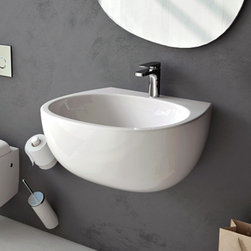 ArtCeram - ArtCeram | File Wall-Hung Washbasin - Made in Italy by Art Ceram.The File Wall-Hung Washbasin's bowl like shape and wall-hung application instantly modernizes luxury bathrooms. With sleek and durable construction, this classic bathroom sink will make a lasting impression in your bath space with unwavering functionality and persisting beauty. Pair with a modern deck-mounted sink faucet to reinvent your bathroom. Product Features: