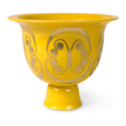 Persephone Bowl - I love this Jonathan Adler pedestal bowl. Not only would it make a great mantel statement, it would also work for serving salad to summertime guests.