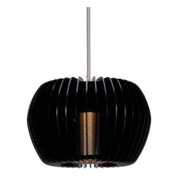 WAC Lighting - Uber LED Pendant - Canopy Mount - Discover soft sparkling secrets by peering between the blades. Uber's glimmering translucent diffuser gently reveals ligth through distinctive die-cast metal lines for a brilliantly accented LED pendant.