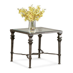 Bassett Mirror Company - Bassett Mirror T1210-250 Lido Square End Table - Traditional Square End Table in Burnished Bronze Finish on Metal belongs to Lido Collection by Bassett Mirror Company Bassett Mirror is fluent in this art, showing a terrific contemporary furniture that will satisfy on the one hand fans of home coziness, and on the other hand - seekers of non-standard design solutions also. One of the many strengths of the Bassett Mirror is using high quality materials for perfect embodiment of brilliant design ideas. End Table (1)