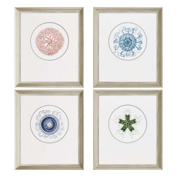 Paragon - Ocean Gems PK/4 - Framed Art - Each product is custom made upon order so there might be small variations from the picture displayed. No two pieces are exactly alike.