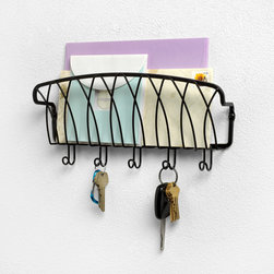 Office Organization - Organize your mail, bills, keys and more with the Twist Wall Mount Single Letter Holder. It provides a central location to keep your life organized, while its sleek and simple design will add a traditional touch to your home.