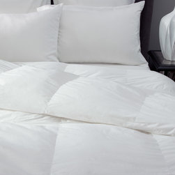 DOWNLITE - Silky Cotton Sateen Pima Down Comforter, White, Oversized King, Solid - No Patte - Absolutely stunning to the touch - your bed will be graced with these silky soft clouds of comfort. Featuring Pima cotton paired with a specially woven cotton sateen weave that is extra silky to the touch.