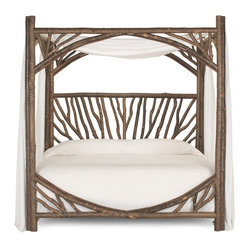 Rustic Canopy Bed 4282 by La Lune Collection