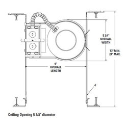 """Lightolier - 1004F26ESN Lytening 5"""" IC New Construction Housing- 26W Vertical CFL - Housing only. Trim and bulb sold separately."""
