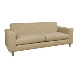 Lazar Industries - Ross Full Sleeper Sofa in Woolco Beige - Ross Full Sleeper Sofa by Lazar Industries offers clean lines on a compact, symmetrical and track arm style.