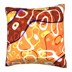 Custom Photo Factory - Colorful Retro Art Deco Pattern Pillow.  Polyester Velour Throw Pillow - Colorful Retro Art Deco Pattern Pillow. 18 Inches x 18  Inches.  Made in Los Angeles, CA, Set includes: One (1) pillow. Pattern: Full color dye sublimation art print. Cover closure: Concealed zipper. Cover materials: 100-percent polyester velour. Fill materials: Non-allergenic 100-percent polyester. Pillow shape: Square. Dimensions: 18.45 inches wide x 18.45 inches long. Care instructions: Machine washable