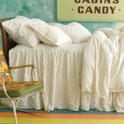 Pine Cone Hill - Candlewick Dove White Gathered Skirted Coverlet - Candlewick Dove White Gathered Skirted Coverlet