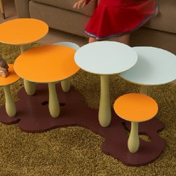 Thomas Wold Mushroom Coffee Table - This is not your child's coffee table; Thomas Wold wants the grown ups to enjoy more fun in their own spaces as well.