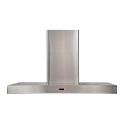 """Atlas International - Cavaliere-Euro SV218Z2-I48 Stainless Steel Island Mount Range Hood - Cavaliere Stainless Steel 218W Island Mounted Range Hood with 6 Speeds, Timer Function, LCD Keypad, Aluminum Grease Filters, and Halogen Lights; Island Mount Range Hood; 218W Low Noise Dual Chamber Motor; 6 Speeds with Timer; 900 CFM; Noise Level: 25dB to 56 dB; Telescopic Chimney fits up to 9ft Ceilings; 218W Low Noise Dual Chamber Motor; 6 Speeds with Timer; 900 CFM; Noise Level: 25dB to 56 dB; Telescopic Chimney fits up to 9ft Ceilings; Dimensions: 48""""L x 23.61""""W x 42.13""""H"""