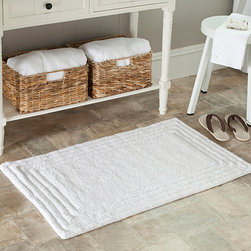 Safavieh - Spa Luxury 2400 Gram White Bath Mat (Set of 2) - Turn any bathroom into a spa with an ultra luxurious extra dense bath rug. Bath rug measures 27 inches length x 45 inches wide and this item comes in a set of two.