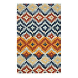 Hand-Hooked Chelsea Southwest Multicolor Wool Rug - I don't usually go for Southwest motifs, but I saw this rug in a bedroom that wasn't themed and the colors and patterned looked modern and fresh.