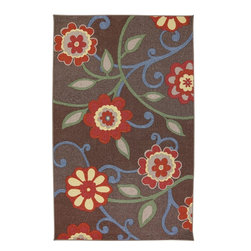 "American Rug Craftsmen - Concord Floral Scroll Kaleidoscope Brown Floral 3'4"" x 5' American Rug Craftsmen - Our Concord Collection is reminiscent of the global tradition of hand hooked craftsmanship. The collection features a textured feel that reflects its historical inspiration. Bold colors and fashionable designs set this group of rugs apart. Printed on the same machines that manufacture one of the world"