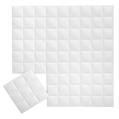Inhabit - Inhabit Blueprint Wall Flats Set of 10 - Forgo drywall and folding screens and install these lightweight dimensional wall tiles, creating sculptural walls anywhere you want them in your home. This wall option is both chic and functional, and you'll love the three dimensional square tile pattern. Each panel is molded from bagasse, a renewable resource, making this an easy, ecofriendly choice for your home.