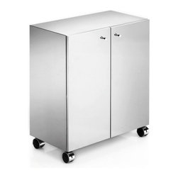 WS Bath Collections - WS Bath Collections Runner Cabinet on Wheels - Features: