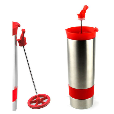 Adnart - The Hot Press - Black, Red - Stainless steel vaccum insulated coffee maker