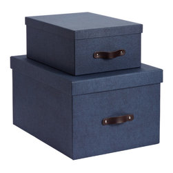 Navy Marten Closet Boxes - Originally intended for your closet, these functional and stylish boxes provide the extra storage — and the pop of color — you need throughout your home.