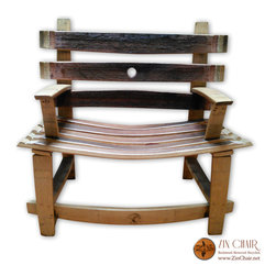 Zin Bench - Wine Barrel Benches - By Zin Chair - Wine Barrel Bench - Outdoor Furniture in Ventura County CA - http://www.zinchair.net/wine-barrel-furniture/bench/