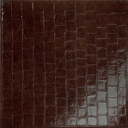 MATOUCHE Croco Field tile   Walker Zanger - This high fashion skin is available on your floors in a silky smooth gloss. The tiles are porcelain and are available in multiple colors and textures.