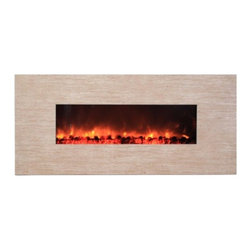 Yosemite Home Decor - Adobe 59 - Yosemite Home Decor - Adobe 59 is a wonderful piece that showcases the beauty possessed by stone. The fireplace comes in polished beige marble-like hue finish. The piece strikes a balance between a rural and urban look and feel. This is further enhanced by the use of faux charcoal. The wonderful thing about this electric fireplace is the ease with which controlling the flame can be  with the use of a dimmer. The quality and beauty of the material. The ease of the wall installation.  And the simple operation will not fail you.  If you want to add a touch of the rural to your urban space then this electric fireplace is definitely the way to go.