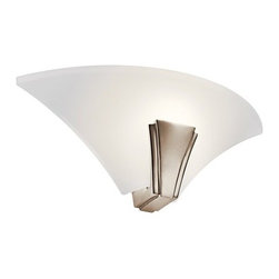 Kichler - Kichler 10435PN 1 Light Fluorescent Up Lighting Wall Sconce - Oviedo Collection - 1 Light Fluorescent Up Lighting Wall Sconce from the Oviedo CollectionThe unique design of the Oviedo collection fixtures are a standout in any style home decor. The transitional appeal lends a warm brightness to your interior decor.Features: