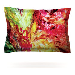 "Kess InHouse - Mary Bateman ""Passion Flowers I"" Pillow Sham (Cotton, 30"" x 20"") - Pairing your already chic duvet cover with playful pillow shams is the perfect way to tie your bedroom together. There are endless possibilities to feed your artistic palette with these imaginative pillow shams. It will looks so elegant you won't want ruin the masterpiece you have created when you go to bed. Not only are these pillow shams nice to look at they are also made from a high quality cotton blend. They are so soft that they will elevate your sleep up to level that is beyond Cloud 9. We always print our goods with the highest quality printing process in order to maintain the integrity of the art that you are adeptly displaying. This means that you won't have to worry about your art fading or your sham loosing it's freshness."