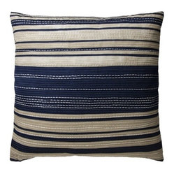 Threshold Oversize Stripe Toss Pillow, Navy