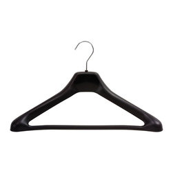 "Safco - One Piece Hangers (3 Cartons of 8 Each) - Black - Black plastic with chrome hook.; Features:; Color: Black; ; Limited Lifetime Warranty; Dimensions: 17 1/2""W x 3 1/4""D x 10 1/2""H"