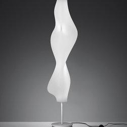 Empirico floor, design by Karim Rashid - 2011 - floor standing luminaire for diffused fluorescent lighting
