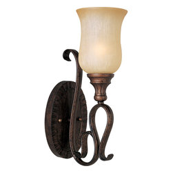 Maxim Lighting - Maxim Lighting 21131MCFL Sausalito 1-Light Wall Sconce - Maxim Lighting 21131MCFL Sausalito 1-Light Wall Sconce