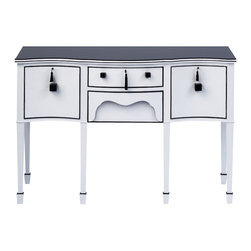 ecofirstart - Hercule - This impeccably refurbished sideboard can work as intended in your dining space, yet is charming enough to go anywhere in your eclectic decor. Lovingly restored and hand painted, it's a one-of-a-kind piece that makes a warm, whimsical statement.