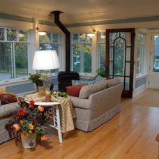 Traditional Family Room by Sharratt Design & Company