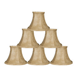 """Royal Designs, Inc"" - 6"" Mouton Bell Chandelier Lampshade - ""This 6"" Mouton Bell Chandelier Lampshade is a part of Royal Designs, Inc. Timeless Chandelier Shade Collection and is perfect for anyone who is looking for a simple yet stunning lampshade. Royal Designs has been in the lampshade business since 1993 with their multiple shade lines that exemplify handcrafted quality and value."