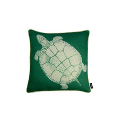 Molokai 18X18 Reversible Pillow (Indoor/Outdoor) - 100% polyester cover and fill.  Made in USA.  Spot clean only