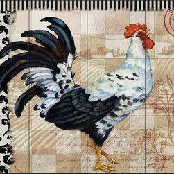 The Tile Mural Store (USA) - Tile Mural - Pb - Bergerac Rooster Iii - Kitchen Backsplash Ideas - This beautiful artwork by Paul Brent has been digitally reproduced for tiles and depicts a colorful rooster.  Rooster tile murals and decorative tiles with roosters are the perfect addition to your kitchen backsplash tile project. You can't go wrong with any of our decorative rooster tiles - each one is beautiful and will certainly add interest to your kitchen wall tile. Tile murals of roosters are timeless and will never go out of style. Add something unique to your kitchen backsplash behind your stove or sink.
