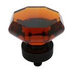 Cosmas - Cosmas Oil-Rubbed-Bronze and Amber Glass Cabinet Knob - This beautiful Cosmas retro-styled glass knob features a warm amber color and coordinating oil rubbed bronze base. Nothing on the market lasts longer or provides better value than Cosmas branded products.
