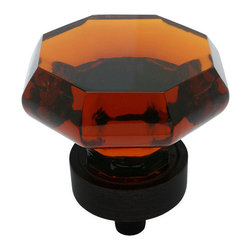 Cosmas - Cosmas 5268ORB-A Oil Rubbed Bronze & Amber Glass Cabinet Knob - This beautiful Cosmas retro-styled glass knob features a warm amber color and coordinating oil rubbed bronze base. Nothing on the market lasts longer or provides better value than Cosmas branded products.