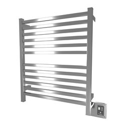 Amba - Edged 28x33 Electric Heated Towel Warmer, Brushed - Dual-purpose radiator functions as towel warmer and space heater