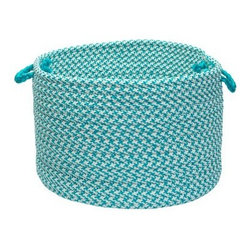 Colonial Mills Outdoor Houndstooth Tweed Storage Basket - 18 diam. x 12 in. - The Colonial Mills Outdoor Houndstooth Tweed Storage Basket - 18 diam. x 12 in. is a smart and stylish addition to any space. Crafted from a durable and soft-to-the-touch material, this handsome storage basket brings sleek lines and a cozy energy to any room in your home. The flat-braid weave is durable enough for kids' toys, magazines or even firewood but soft enough for hampers and linens. For longevity of use, this basket is fade- and stain-resistant, so cleaning is easy. Choose from a variety of colors for the storage basket that best complements your home.About Colonial MillsThe resurgent popularity of braided texture comes as no surprise to Colonial Mills, Inc. (CMI). For the past several years, CMI has developed new colors and styles that will capture the home decorating imagination of just about anyone. CMI considers a braid as a method of construction, not a style. Braided construction adds a distinctive look and premium durability to rug styles ranging from contemporary to traditional. Creating exceptional rugs and providing superior customer service is a team effort at CMI, proudly recognized as a trusted supplier to the best-known retailers in the United States today.